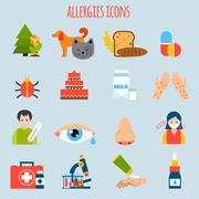 Allergies Icon Set Stock Illustration