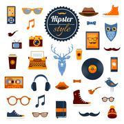 Hipster Elements Set Stock Illustration