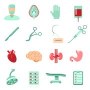 Surgery Icons Set - stock illustration