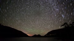 Star Trails At Jordan Pond Stock Footage