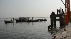 Banaras ghat Stock Footage