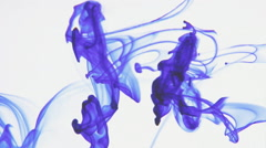 Floating ink in water Stock Footage
