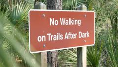 No Walking on Trails Stock Footage