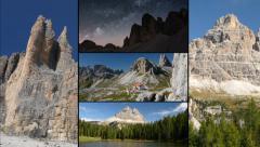 Dolomites alps tre cime de lavaredo montage three peaks 11594 Stock Footage