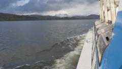 4K Boat Trip on Lake Windermere Stock Footage