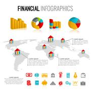 Stock Illustration of Financial infographic set