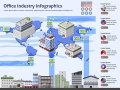 Stock Illustration of Office Industry Infographics