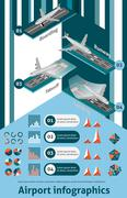 Airport Infographic Set Stock Illustration