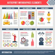 Auto Sport Infographics - stock illustration