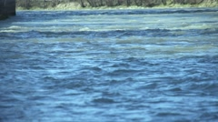 River with blue waters flow in slow motion Stock Footage