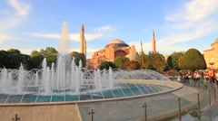 Exterior of the 6th century Byzantine Hagia Sophia Stock Footage