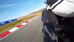 Adrenaline Motorcycle Race with Turns - stock footage