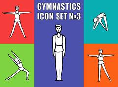 Stock Illustration of Boy gymnast athlete performs a variety exercises