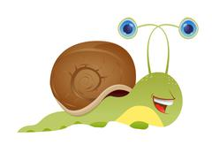 illustration of Cartoon Snail. Vector - stock illustration