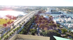 17th street causeway - stock footage
