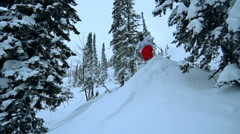 Back Country Skiing Stock Footage