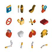 Smoking Isometric Icon - stock illustration