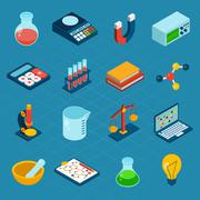 Stock Illustration of Isometric Science Icons
