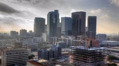4K UltraHD Misty view of Los Angeles city center Arkistovideo