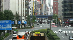 Time Lapse Traffic & People in the Ginza District  -  Tokyo Japan Stock Footage