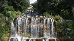 Waterfall in Caserta, Naples Stock Footage