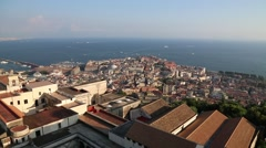 Viewpoint Over Naples, Italy Stock Footage
