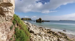Causeway Coastal Route, Northern Ireland Stock Footage