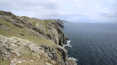 Sliabh Liag Cliffs, Donegal Stock Footage
