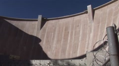 Emergency water supplies are released from Glen Canyon Dam Stock Footage