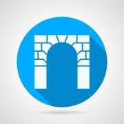Flat vector icon for arch Stock Illustration