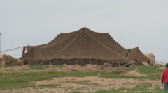 Tent in The Village - stock footage