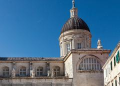 cathedral of the assumption of the virgin mary in dubrovnik, croatia. - stock photo