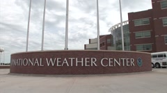 The National Weather Center in Norman Oklahoma. Arkistovideo