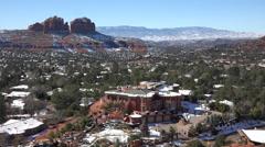 Sedona Arizona mansion home city valley red rocks HD 076 Stock Footage