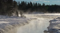 Winter in Yellowstone National Park. - stock footage