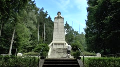 Memorial to the Defenders of the Argonne, Haute Chevauchée, France. Stock Footage