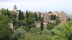 The Alhambra Palace in Granada, Spain Stock Footage