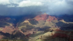 A beautiful time lapse of the Grand Canyon with a storm passing. Stock Footage