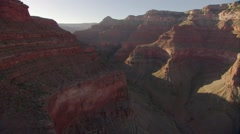 Beautiful aerial over Grand Canyon at dawn. Stock Footage