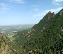 Flatirons with Boulder in Background Stock Footage