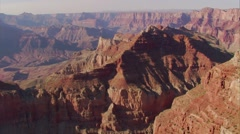 Aerial over the Colorado River in the Grand Canyon. Stock Footage