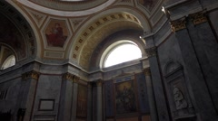 Interior of the hungarian esztergom basilica under the dome Stock Footage