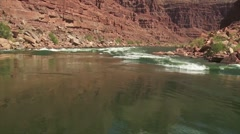 POV of white water rafting on the Colorado River in the Grand Canyon. Stock Footage
