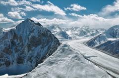 Fedchenko glacier in tajikistan Stock Photos