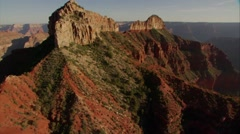Beautiful aerial over Grand Canyon rim at dawn. - stock footage