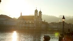Lucerne in Switzerland Stock Footage