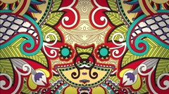 Looped Colorful Ornament and Flourish Animations 05 Stock Footage