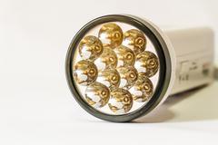 led flashlight - stock photo