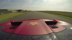 Ferrari 458 onboard 4 Stock Footage