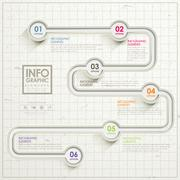 simplicity infographic template design - stock illustration